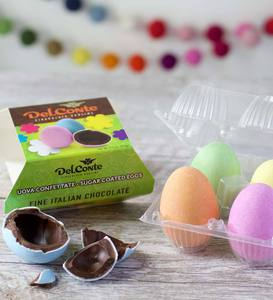 Sugar-Coated Italian Dark Chocolate Eggs (set of 4)