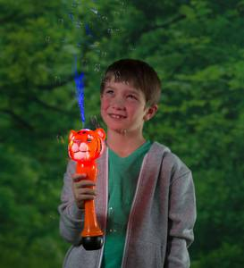 Light-Up Tiger Bubble Wand