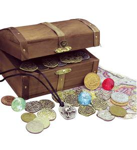 Kid's Treasure Chest with Replica Pirate Coins