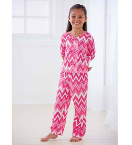 Chevron Print & Bow Pajamas