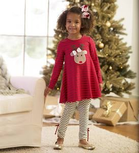 Reindeer Tunic & Legging Set - Red - 7