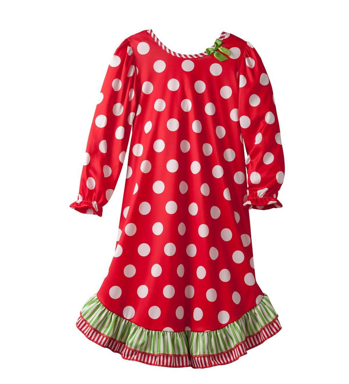 Christmas Dot Gown - Red - 2T | HearthSong