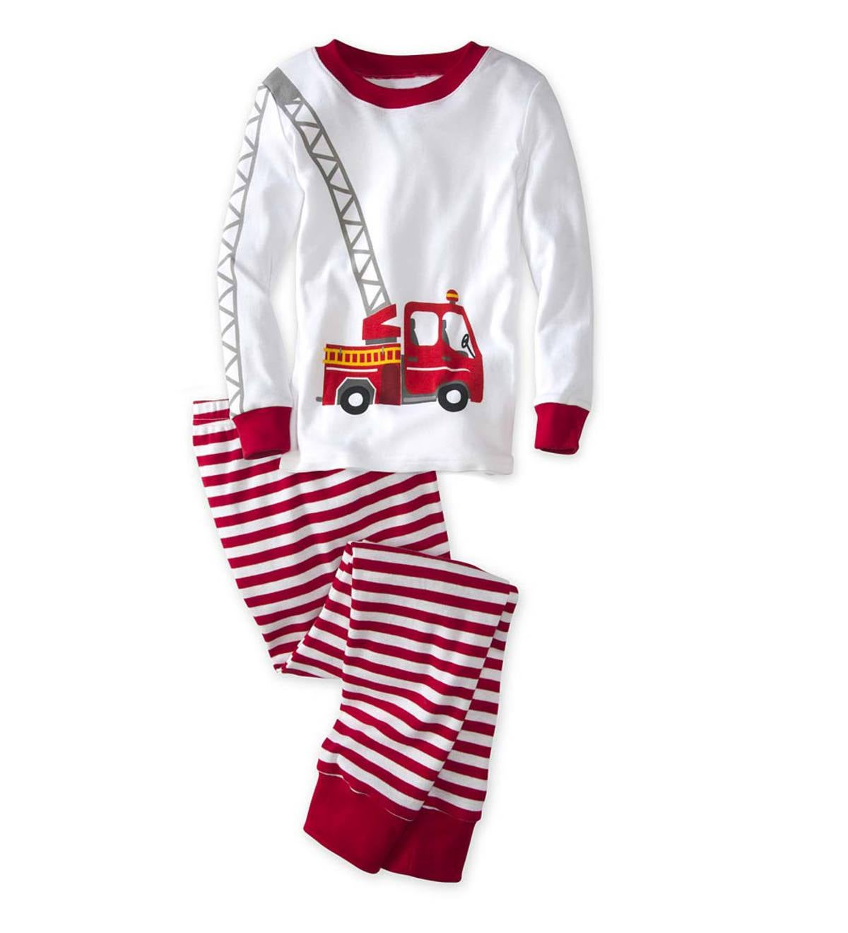 Fire Truck Pajamas - Red - 5