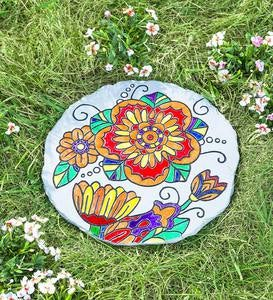 Color Pops® Color-Your-Own Garden Stone: Flower