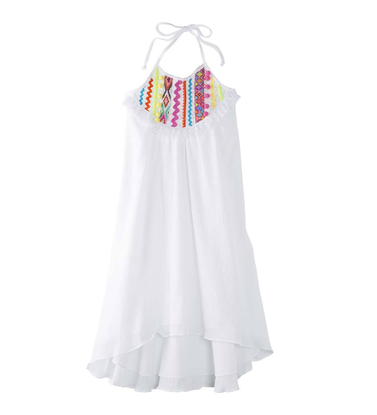 Pom-Pom Halter Dress - MLT - 6