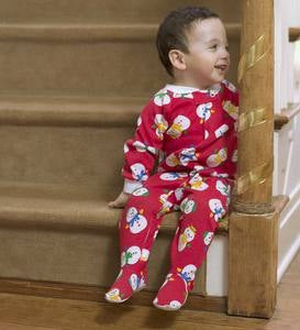 Snowman Pajamas - Red - 6