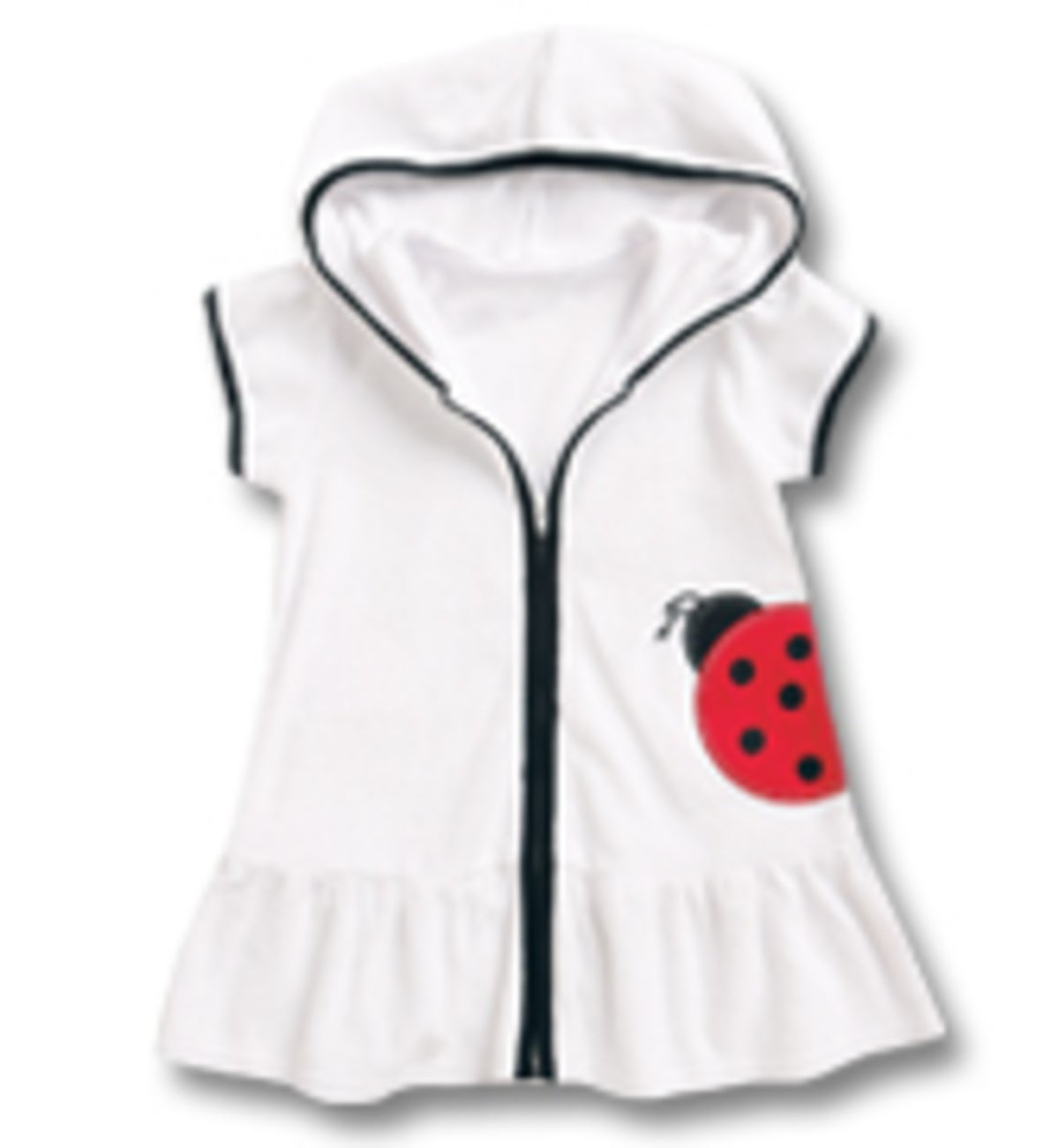 Ladybug Swim Cover-Up - White - 5
