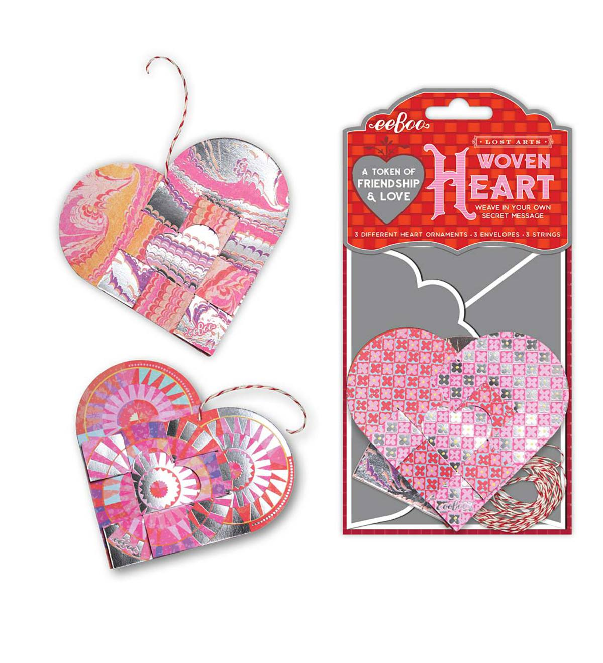 Woven Heart Tokens (set of 3)
