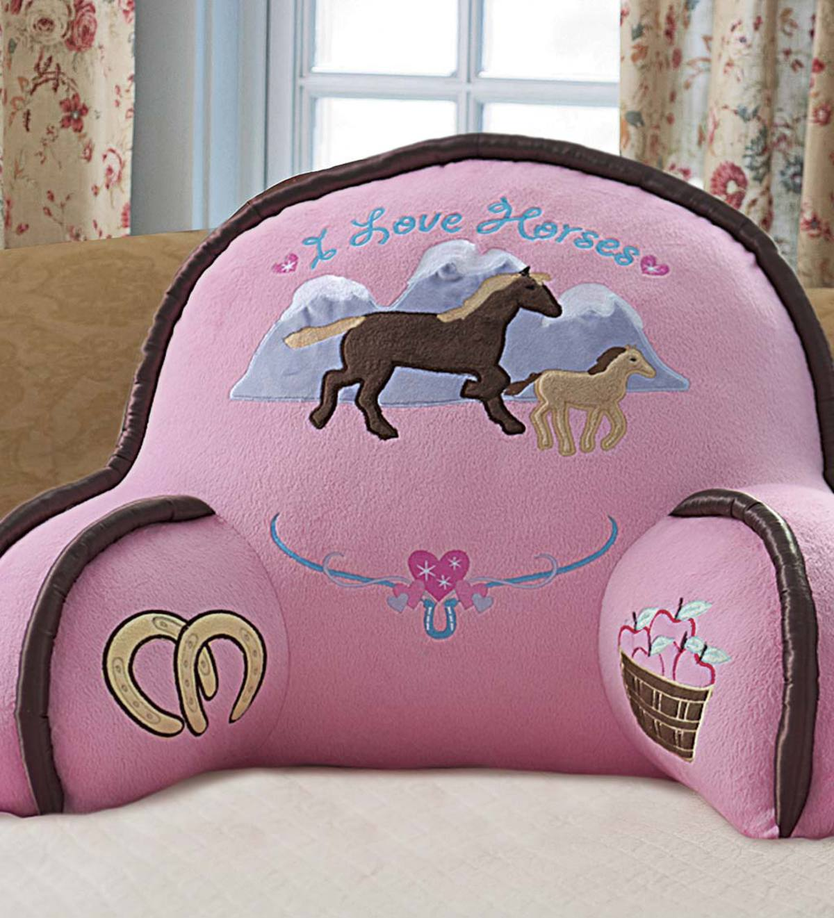 I Love Horses Lounge Pillow