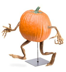 Halloween Pumpkin Appendages, Expressions, and Display Stand