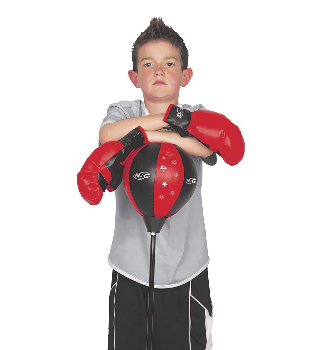Junior Boxing Set with Adjustable Punching Bag