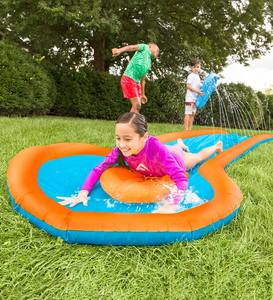12'L Inflatable Water Slide with Two Speed Boards
