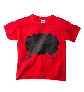 Thought Cloud Chalkboard Tee Shirt - Blue - LG
