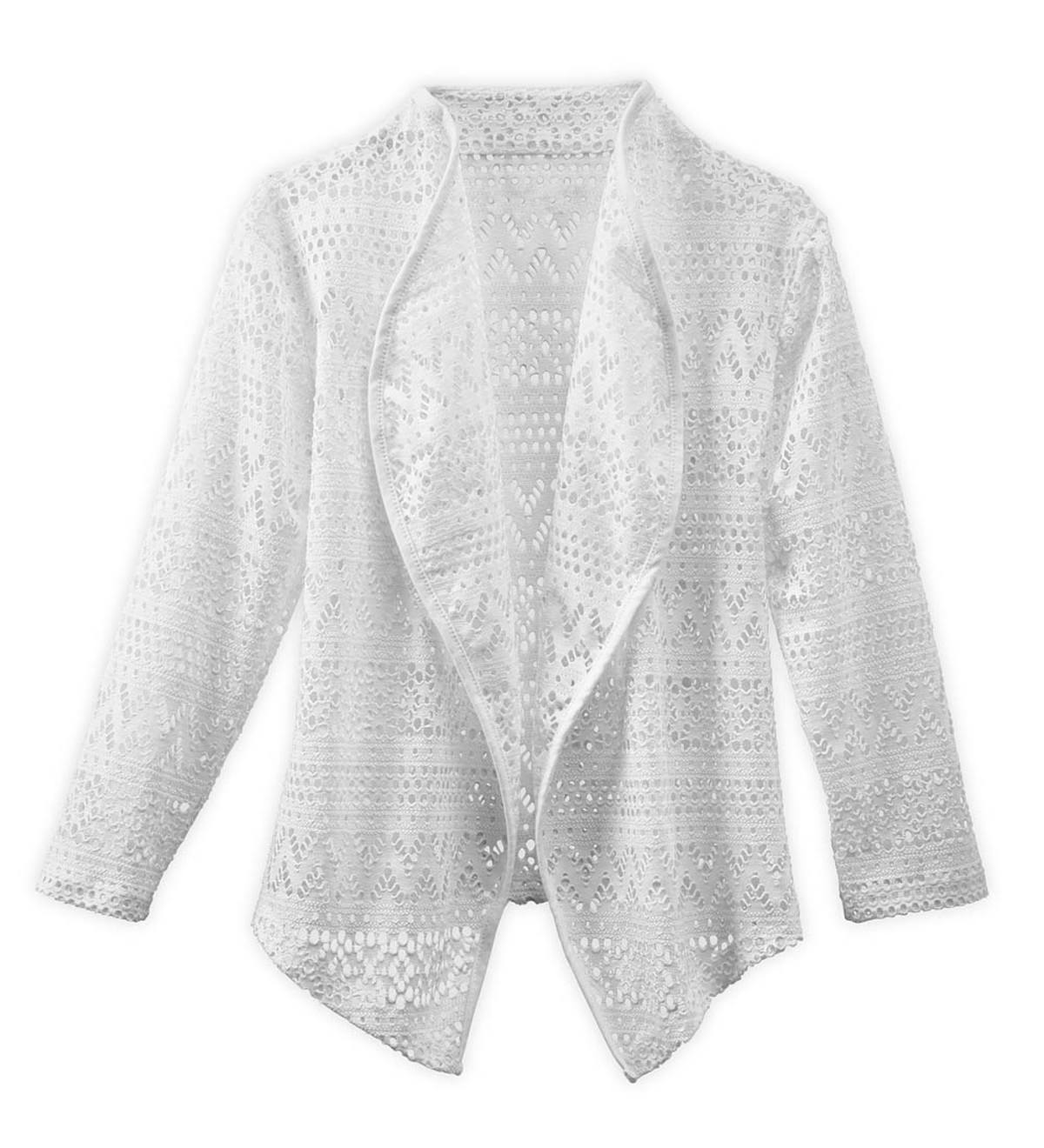 Long Sleeve Crochet Cardigan