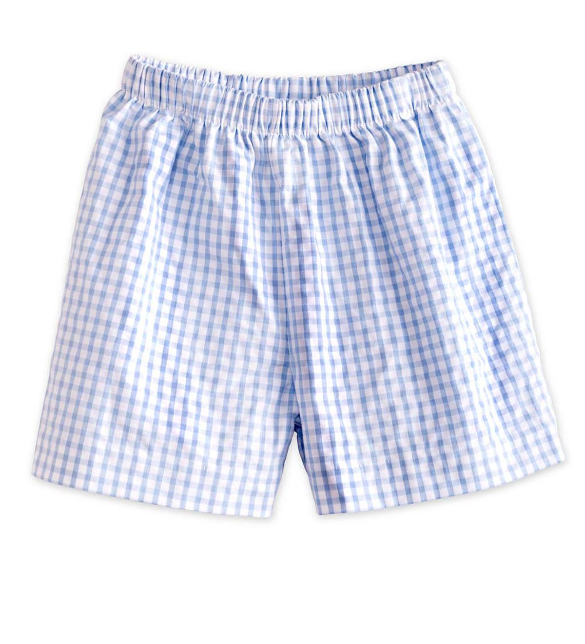 Blue Seersucker Shorts