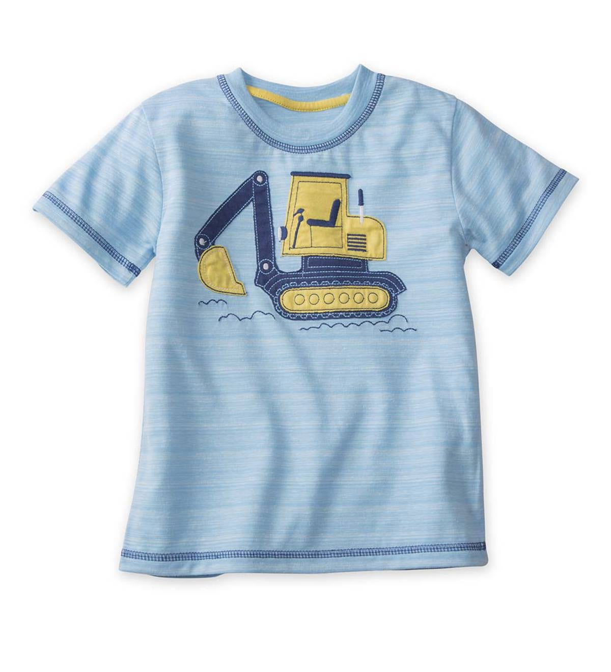 Short Sleeve Excavator Graphic Tee - Blue - 5/6