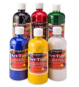 Tempera Paints, 6 colors