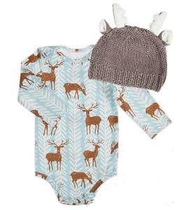 Reindeer Suit & Hat Set