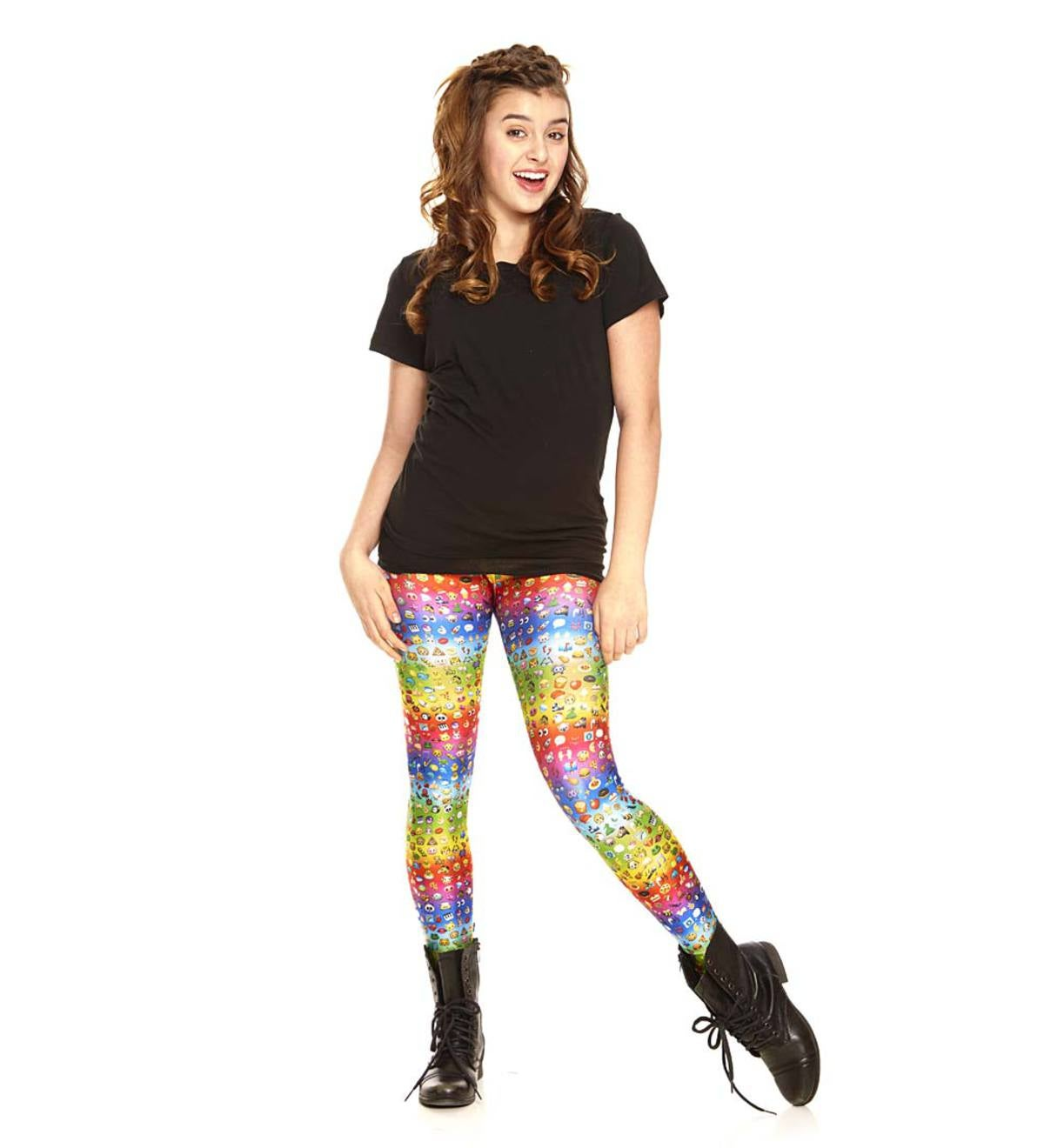 Rainbow Emoji Leggings - Multi - 12