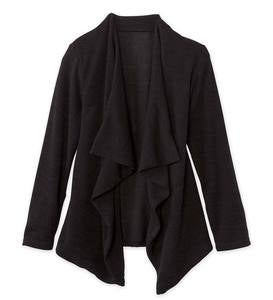 Long-Sleeve Ruffle Cardigan Sweater