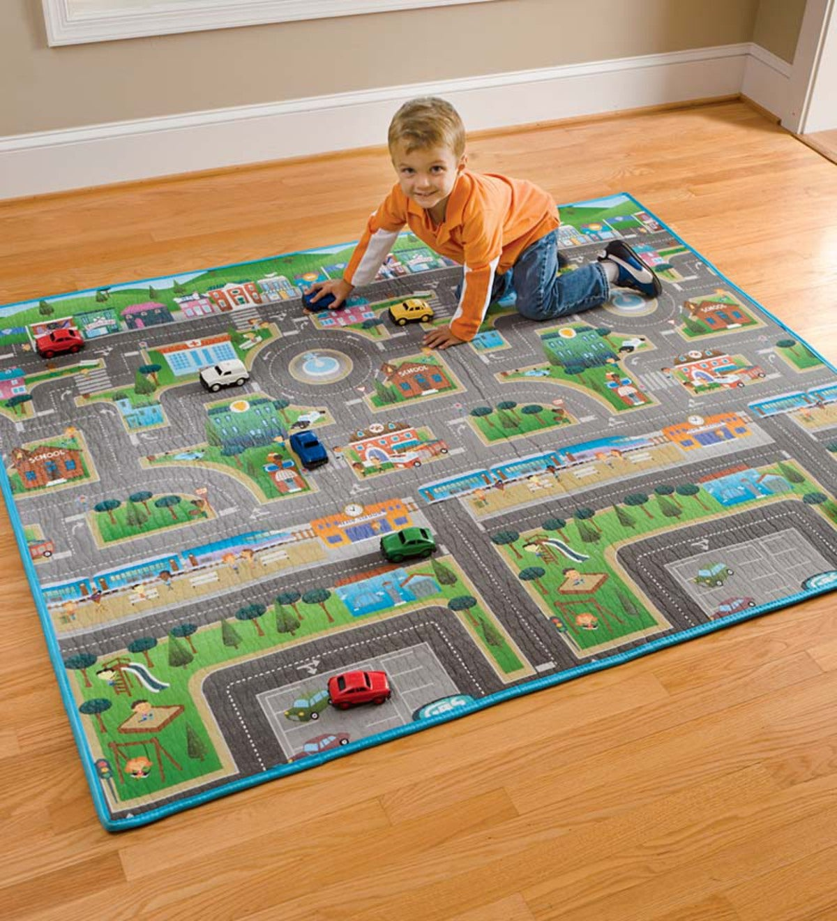 Reversible Play Mat And Cars