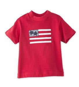 Flag Short Sleeve Tee and Shorts Set - MLT - 4T