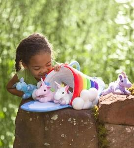 Plush Rainbow Unicorn Playset