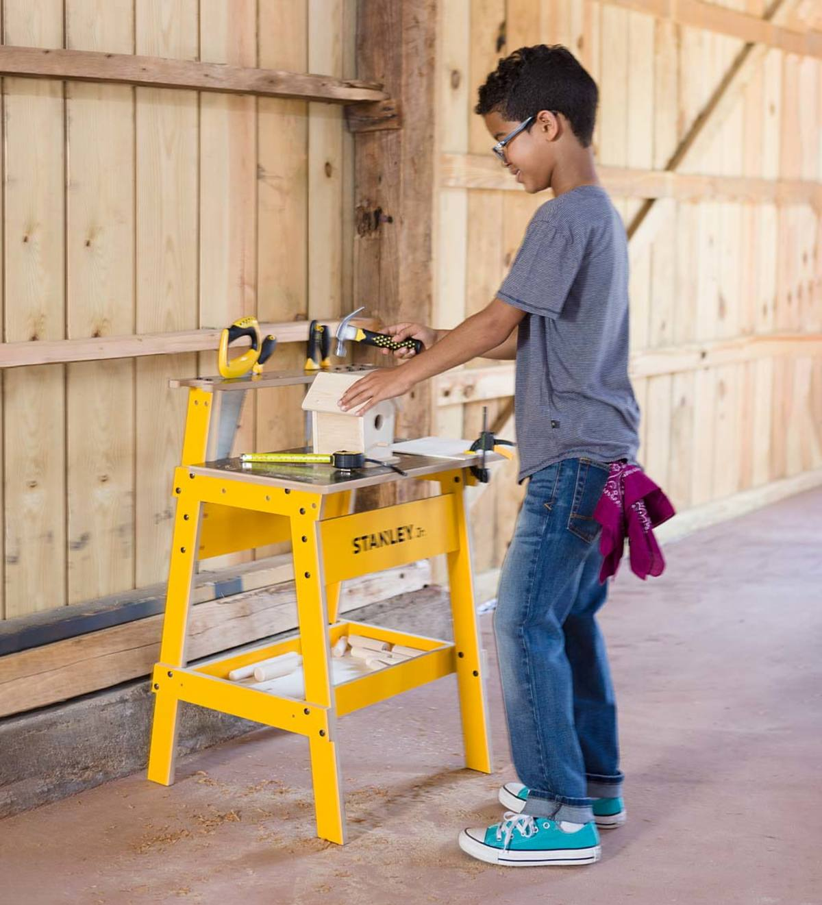 Terrific Stanley Jr Kids Work Bench And 10 Piece Tool Set View Caraccident5 Cool Chair Designs And Ideas Caraccident5Info