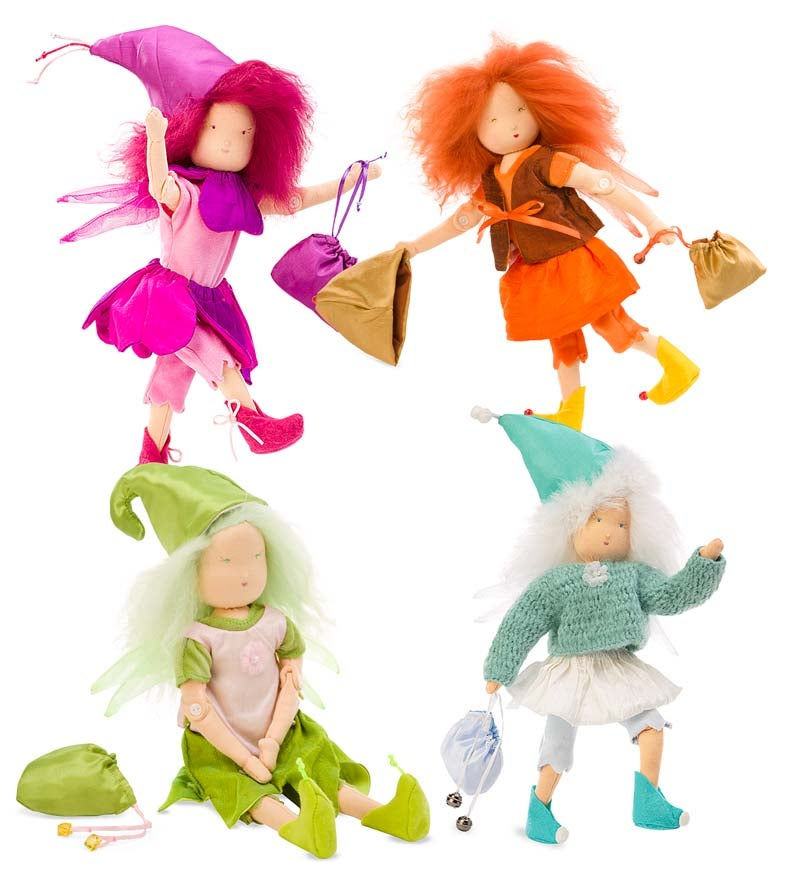 Magic Cabin Dolls Fairies with Accessories Set