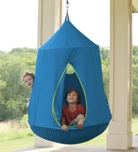 HugglePod® HangOut® with LED String Lights - Blue