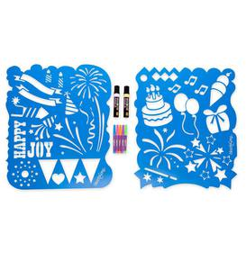 ChalkScapes® Let's Celebrate! Stencils and Window Markers Kit