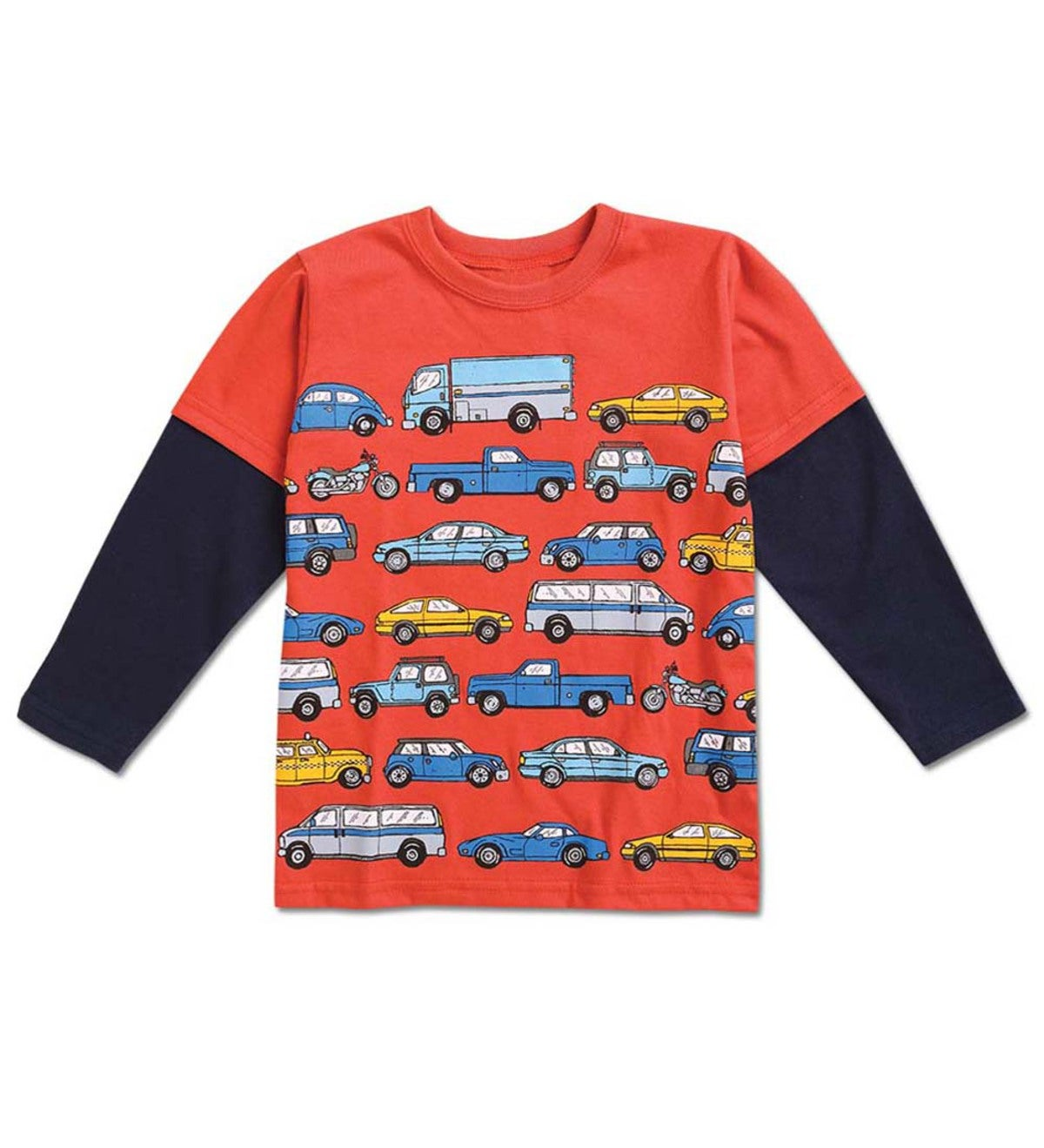 Vehicles Double Sleeve Tee - Red - 10