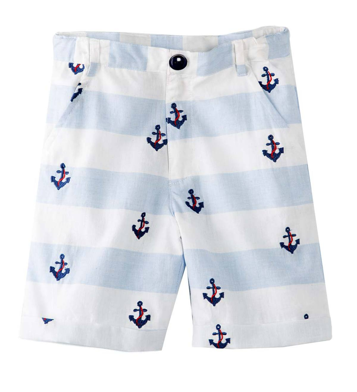 Embroidered Anchor Shorts - MLT - 10