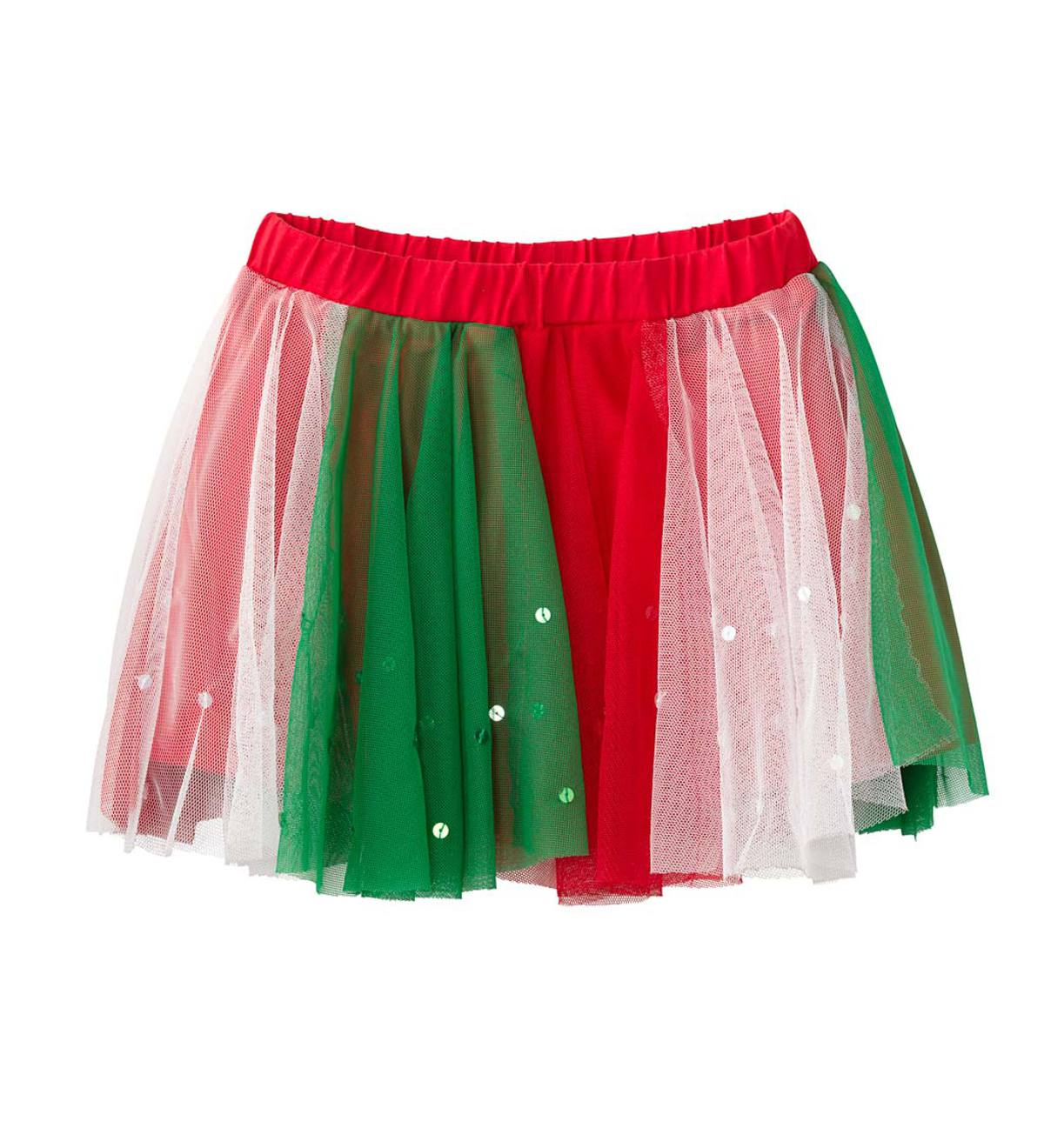 Holiday Tulle Skort - Green - 10