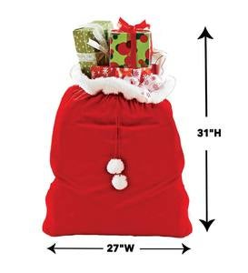 Santa's Oversized Velvet Toy and Gift Sack