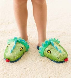 Kids' LED Light-Up Dragon Slippers