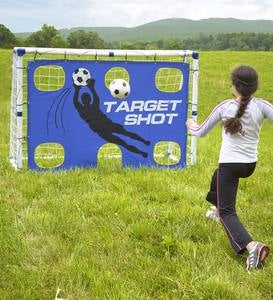 Goal for It! Portable 3-in-1 Pro-style Soccer Trainer Goal