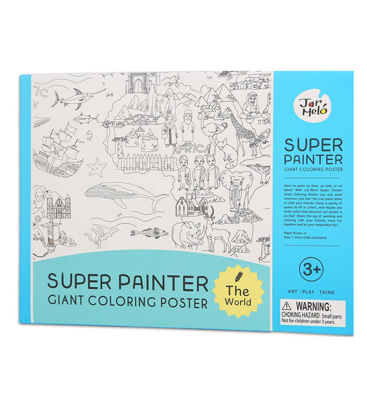 Giant Coloring Poster - The World