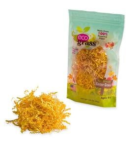 eco grass™ Easter Grass: Yellow, set of 6
