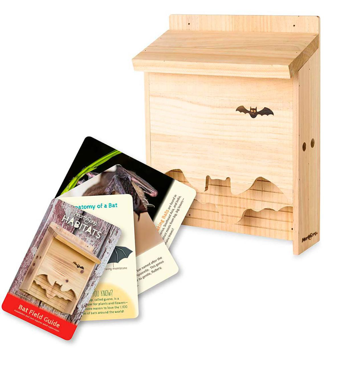 Bat House with Field Guide Cards