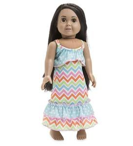 "Chevron Night Gown for 18"" Doll"