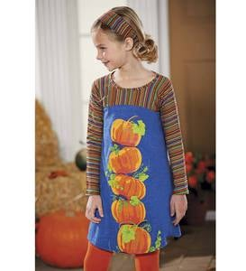 Pumpkin Stack Dress - Denim - 6