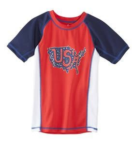 USA Raglan Rash Guard - MLT - 3T