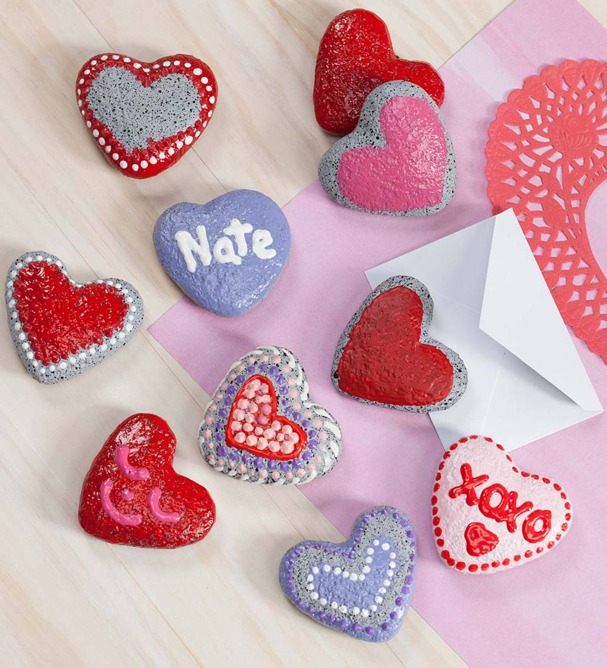 Color Pops® Paint-Your-Own Rock Hearts