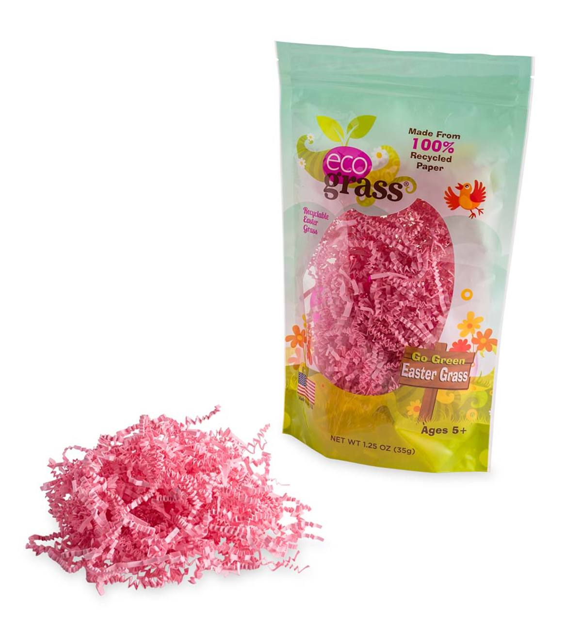 eco grass™ Easter Grass: Pink, set of 6