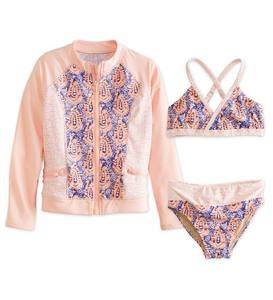 Zip Jacket Three-Piece Rash Guard Set
