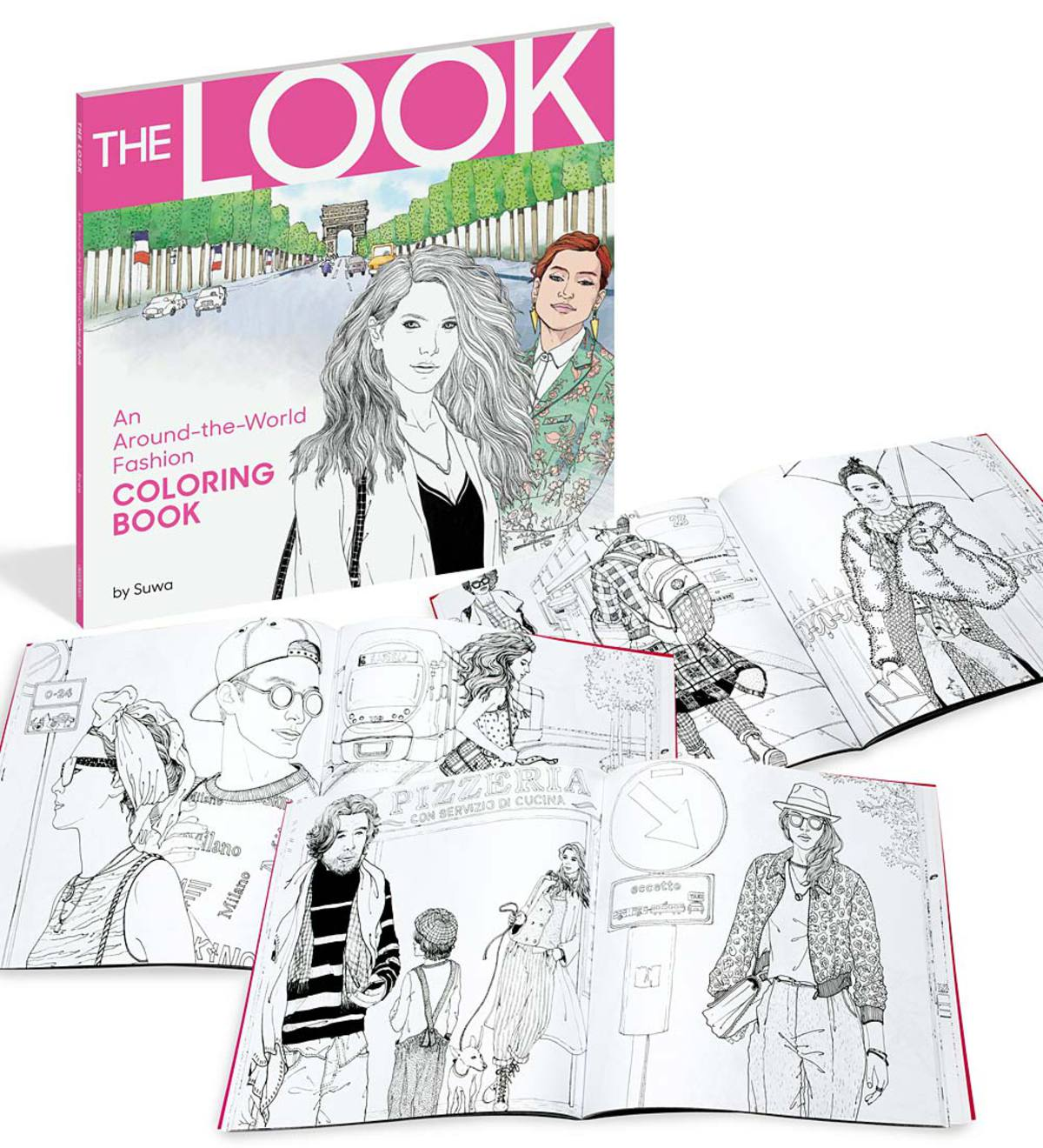 THE LOOK An Around The World Fashion Coloring Book