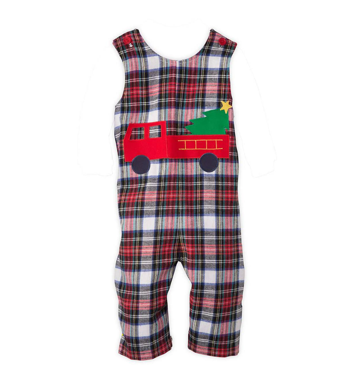 Plaid One-Piece - Red - 24M