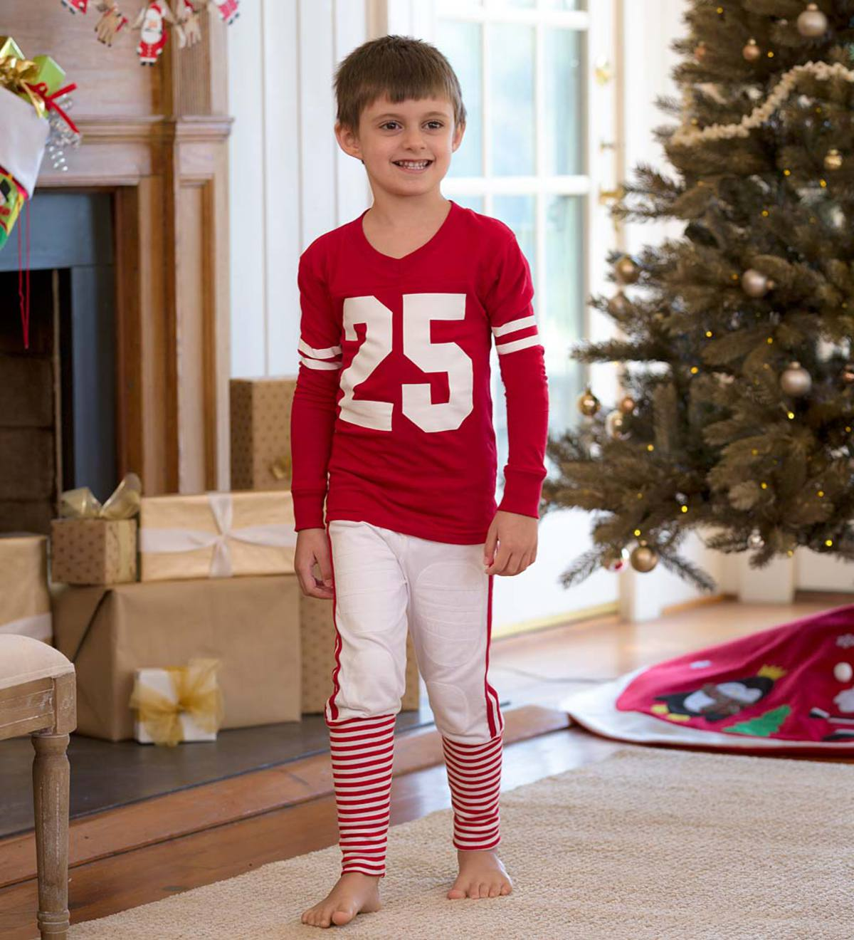 Football Pajamas - Red - 14