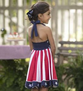 American Flag Halter Circle Dress - MLT - 2T